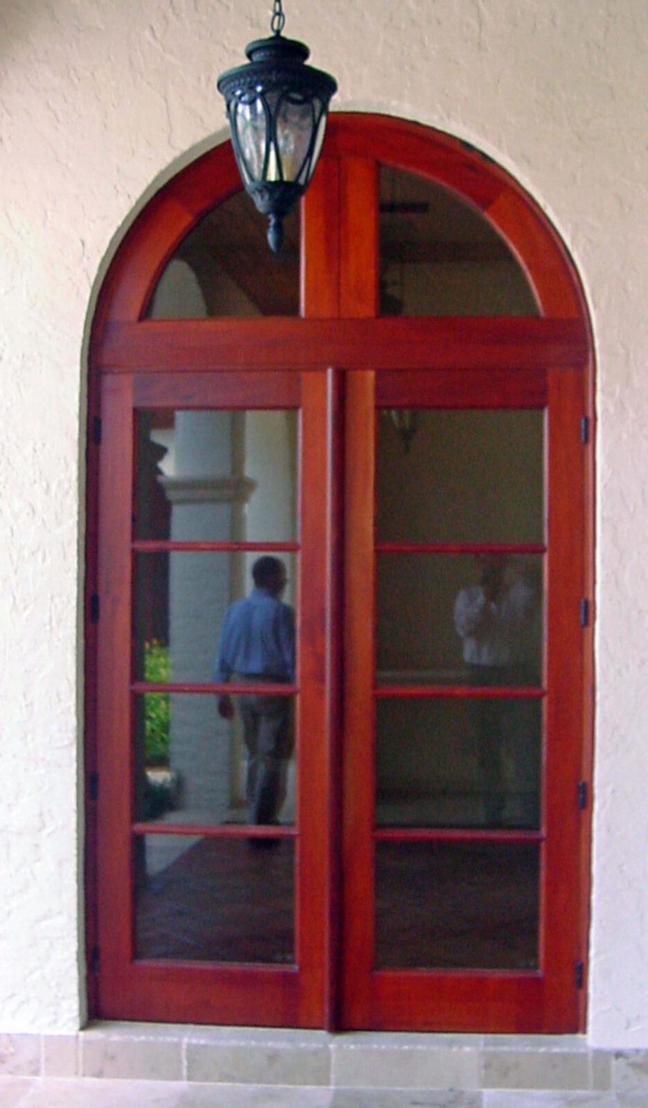 WEST PALM BEACH MAHOGANY FRENCH DOOR.