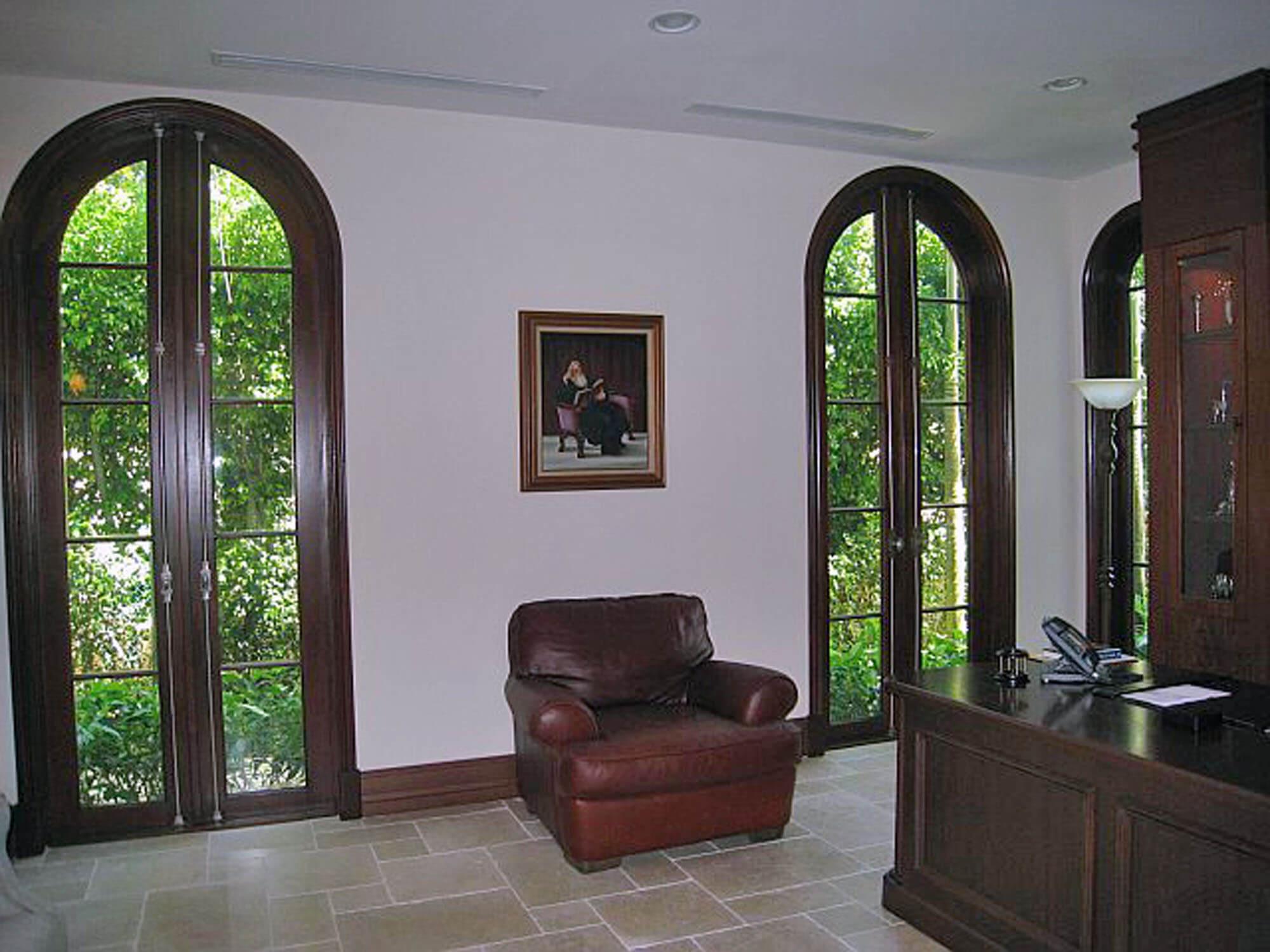 BAL HARBOUR MAHOGANY GLASS DOORS.