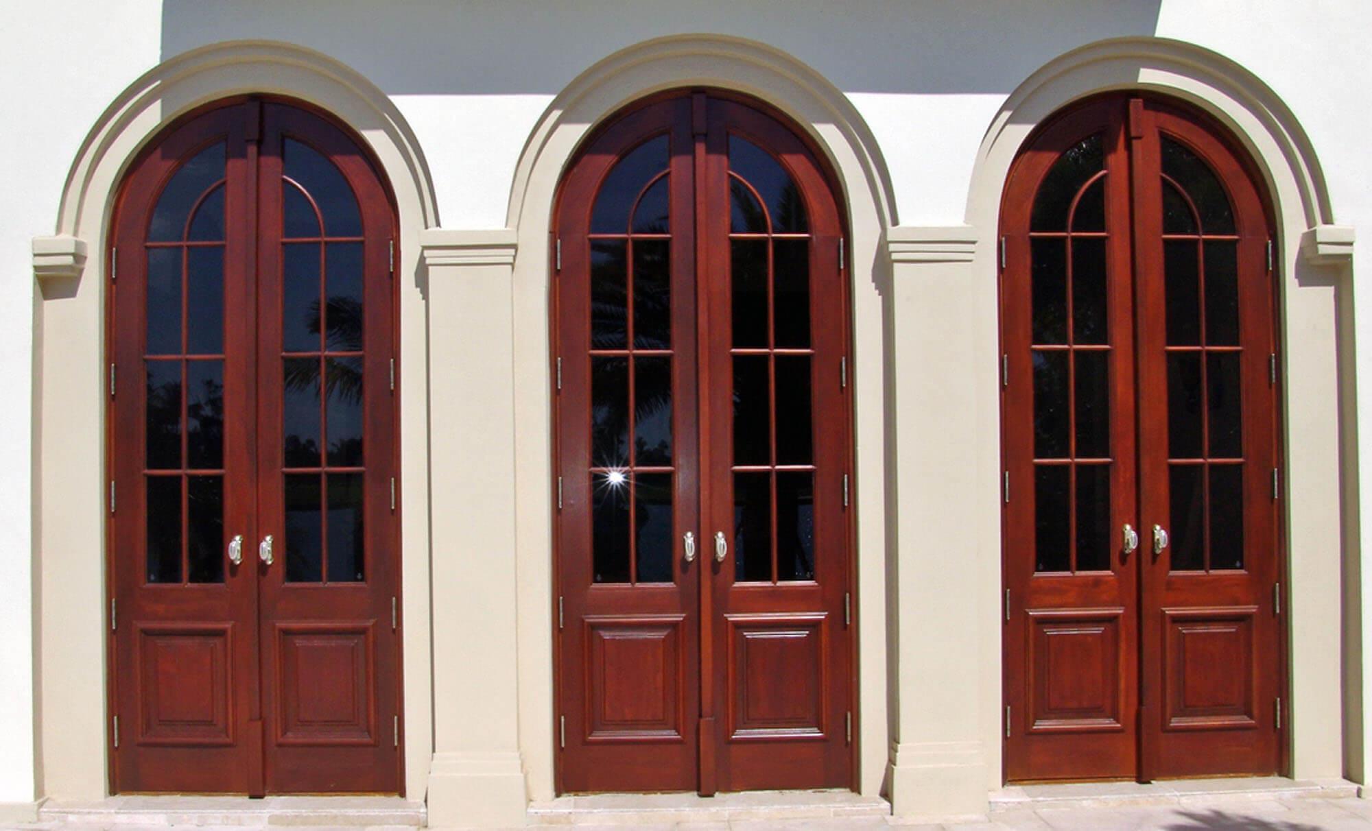BAL HARBOUR MAHOGANY PATIO DOORS.