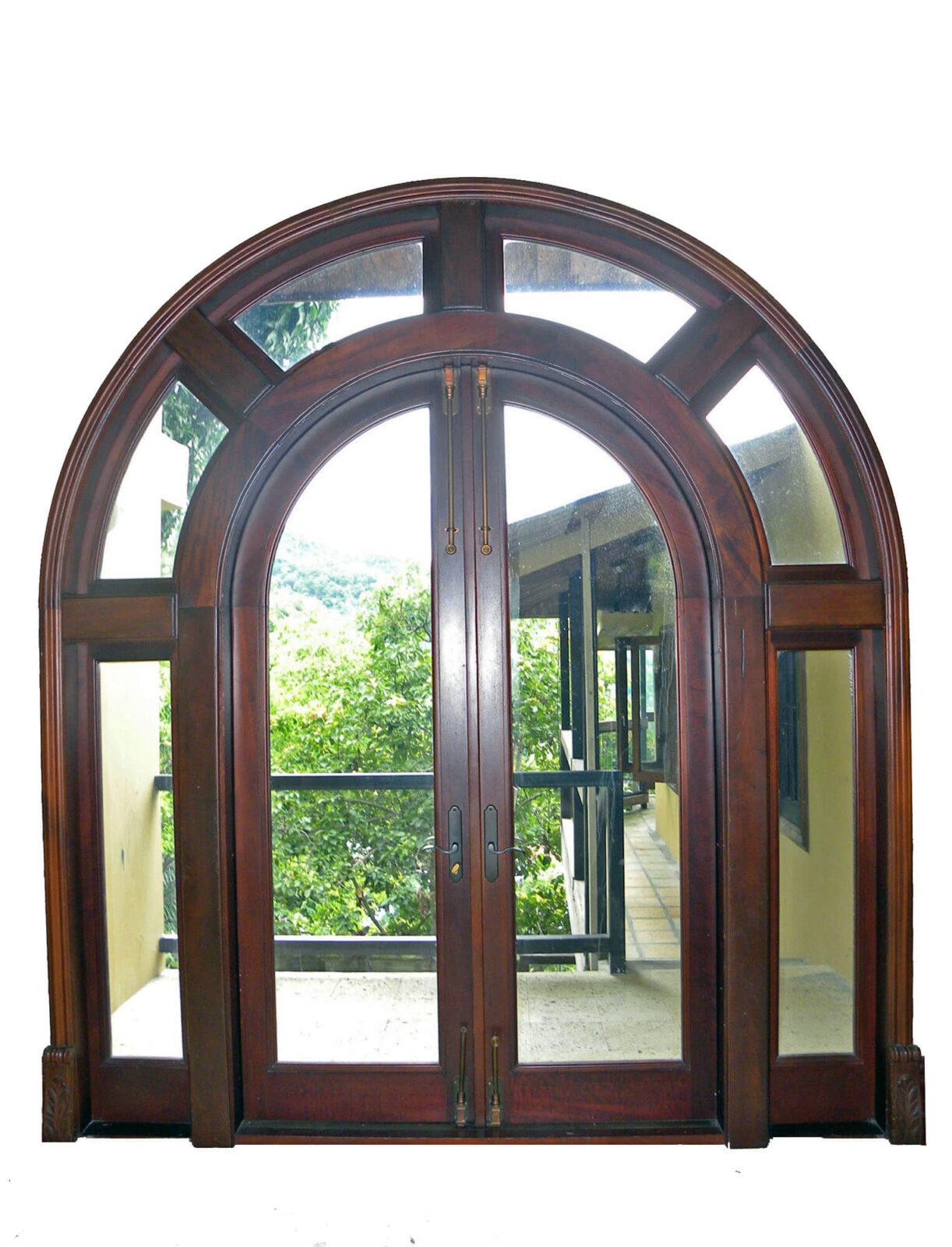 OLYMPUS MAHOGANY PATIO DOOR SYSTEM.