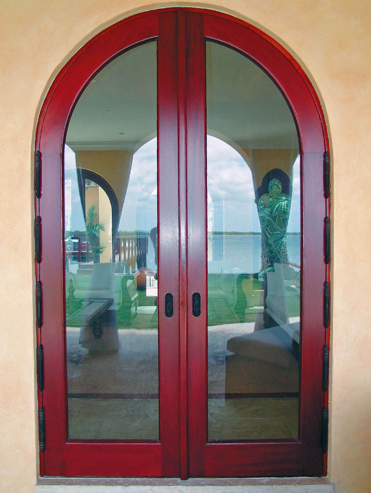 SUNSET ISLAND MAHOGANY DOOR.