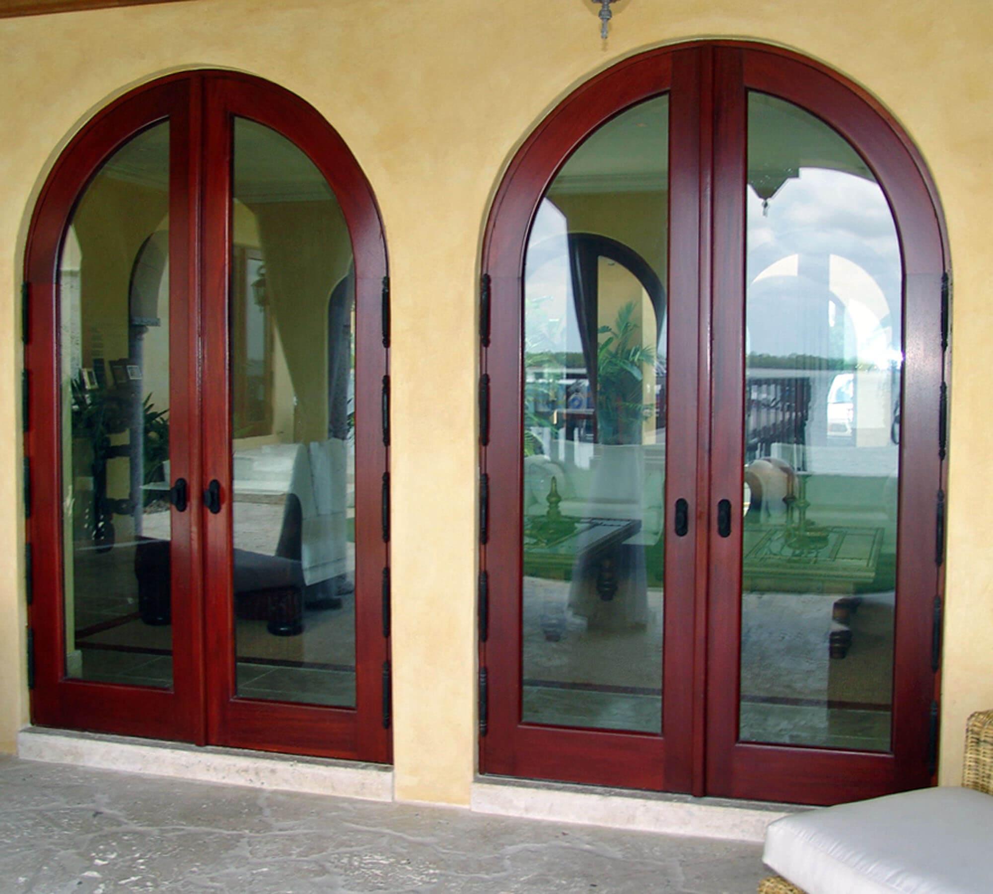 SUNSET ISLAND MAHOGANY FRENCH DOORS.