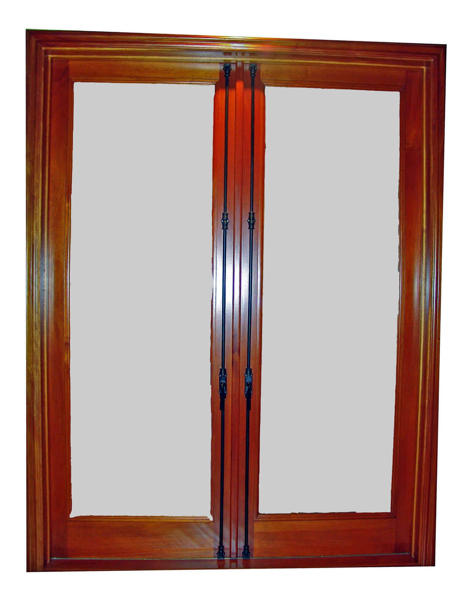 TRADITIONAL FRENCH MAHOGANY DOOR.