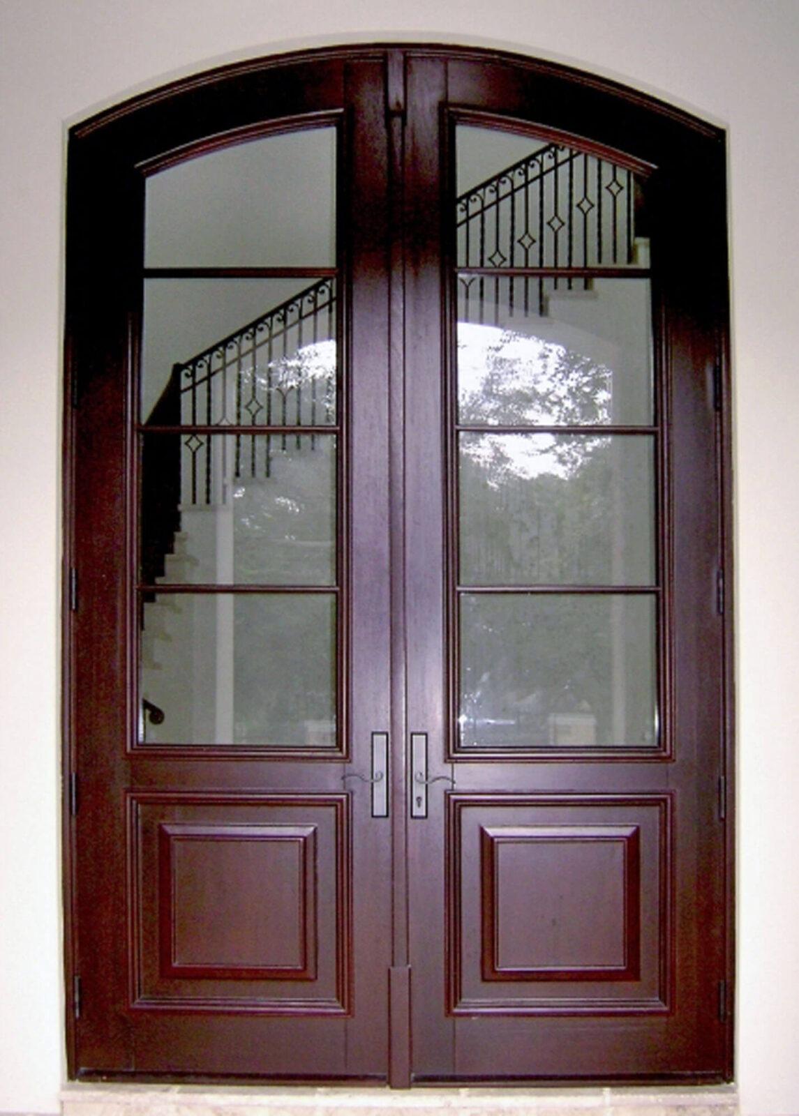 Bay Drive Entrance Mahogany French Doors