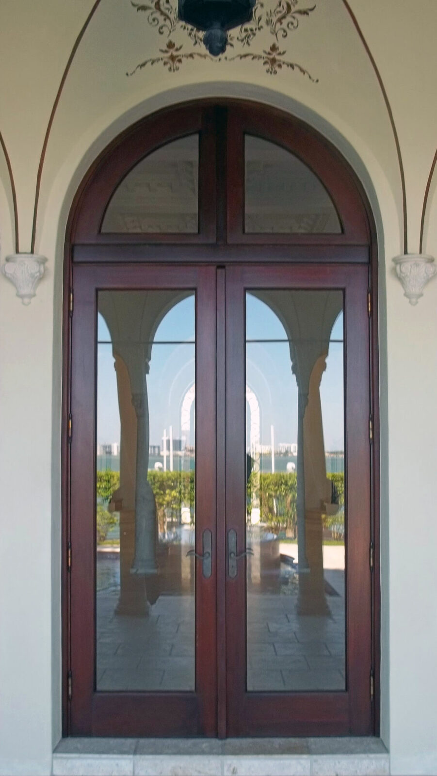 BISCAYNE POINT MAHOGANY FRENCH DOOR.