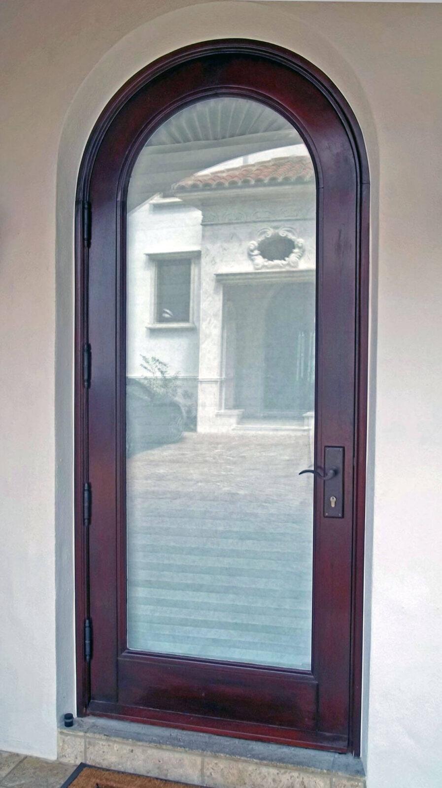 BISCAYNE POINT. MAHOGANY GLASS DOOR.
