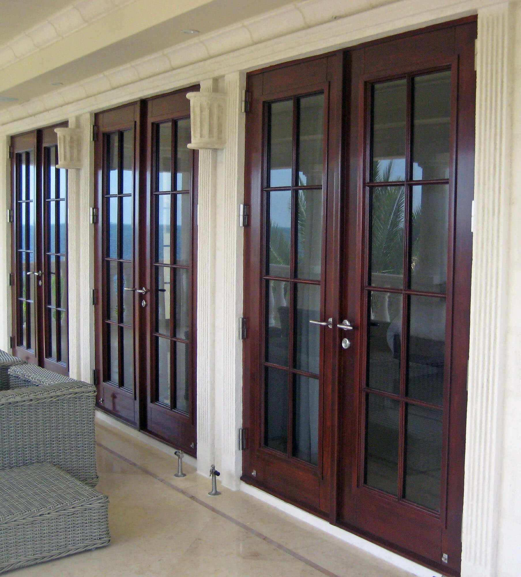 CORAL GABLES GLASS DOORS.