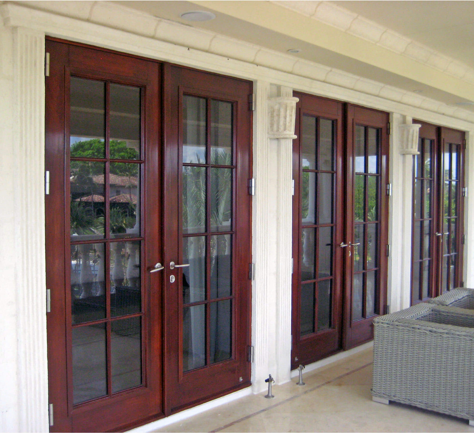 CORAL GABLES GLASS FRENCH DOORS.