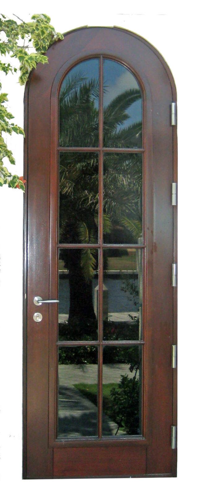 CORAL GABLES MAHOGANY ARCHED GLASS DOOR