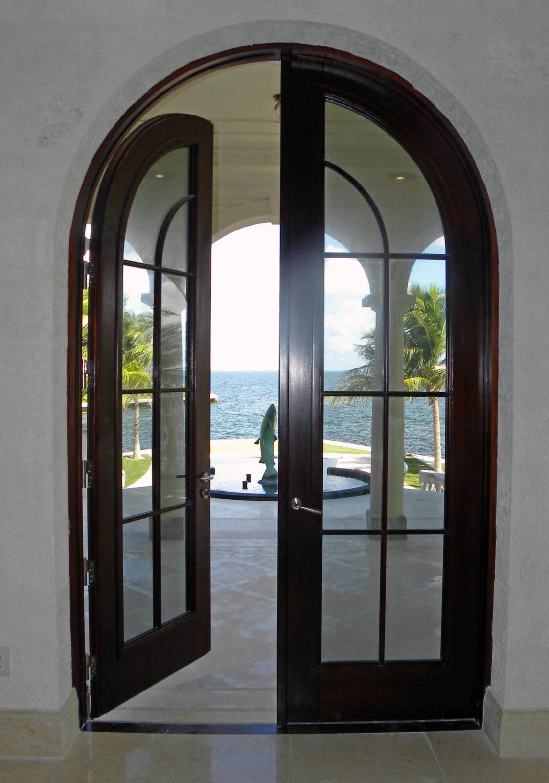 CORAL GABLES MAHOGANY FRENCH DOOR.