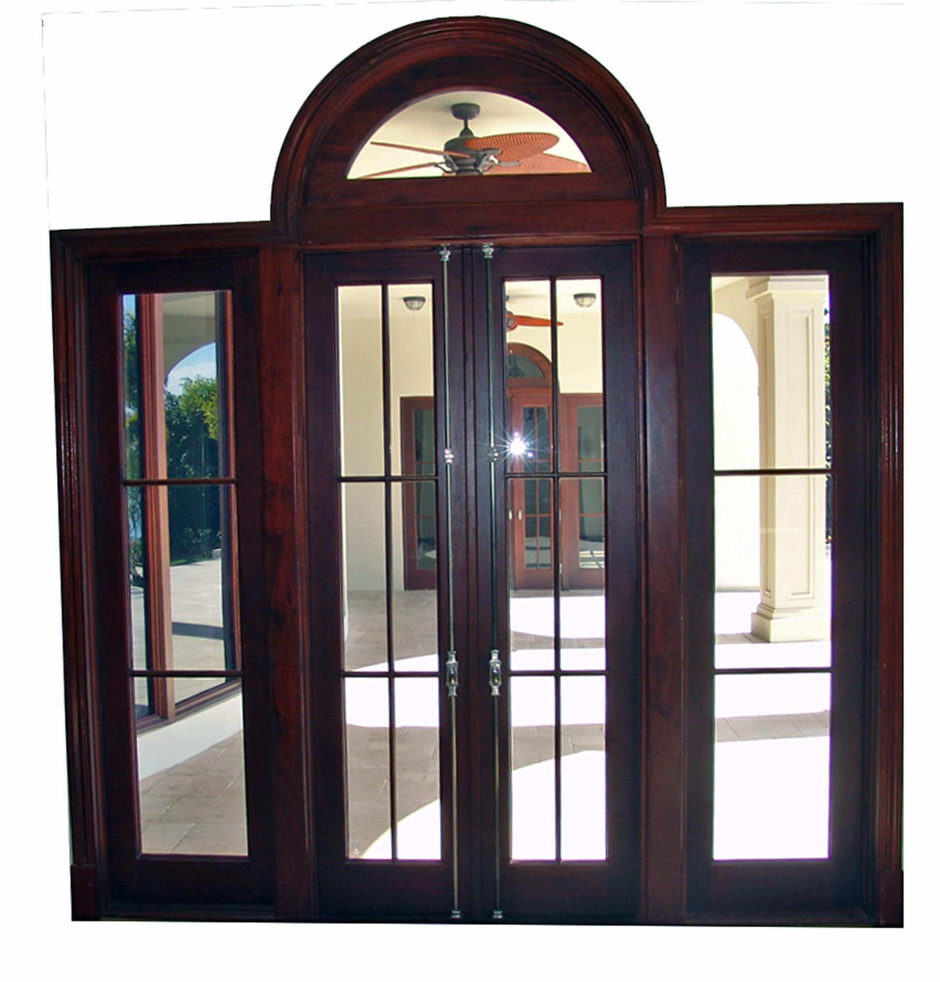BAL HARBOUR MAHOGANY DOORS INTERIOR VIEW.