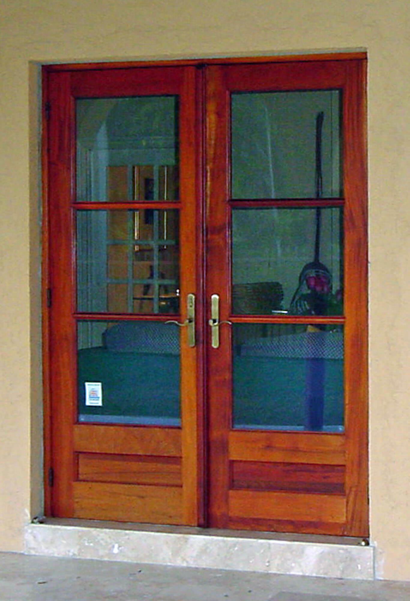 GRANADA MAHOGANY FRENCH DOORS.