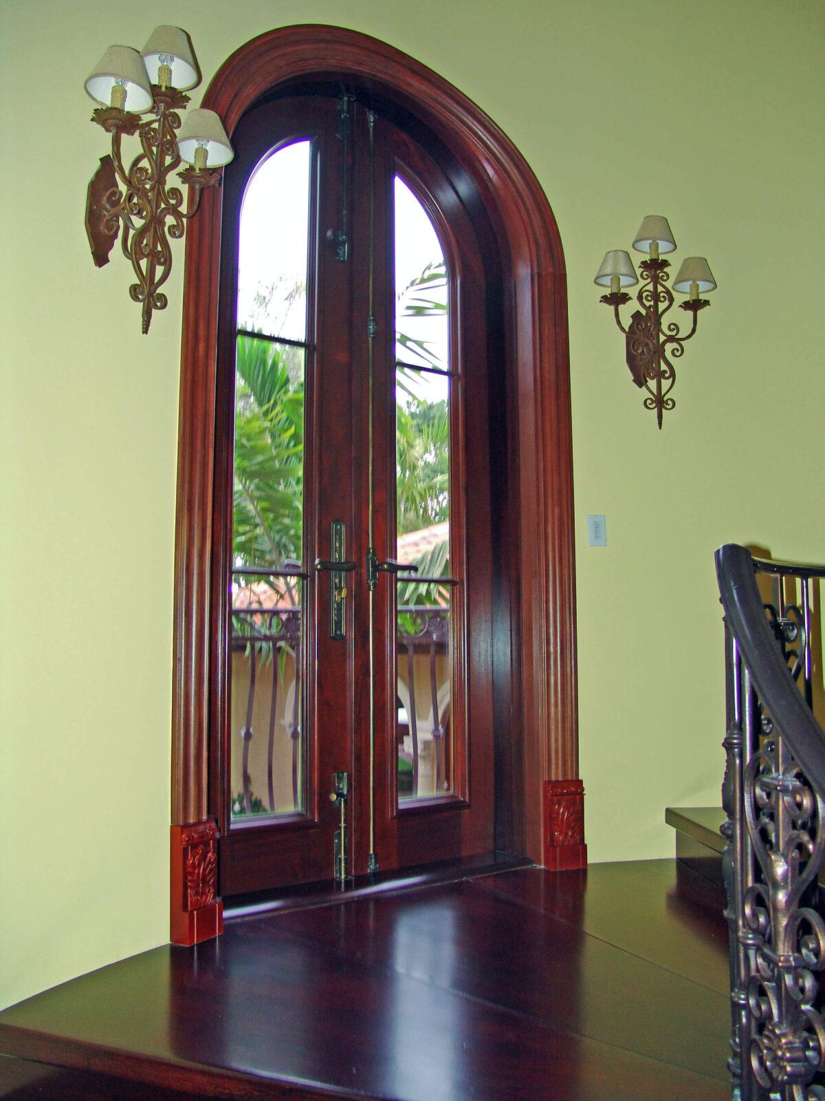 JUPITER BALCONY MAHOGANY DOOR INTERIOR