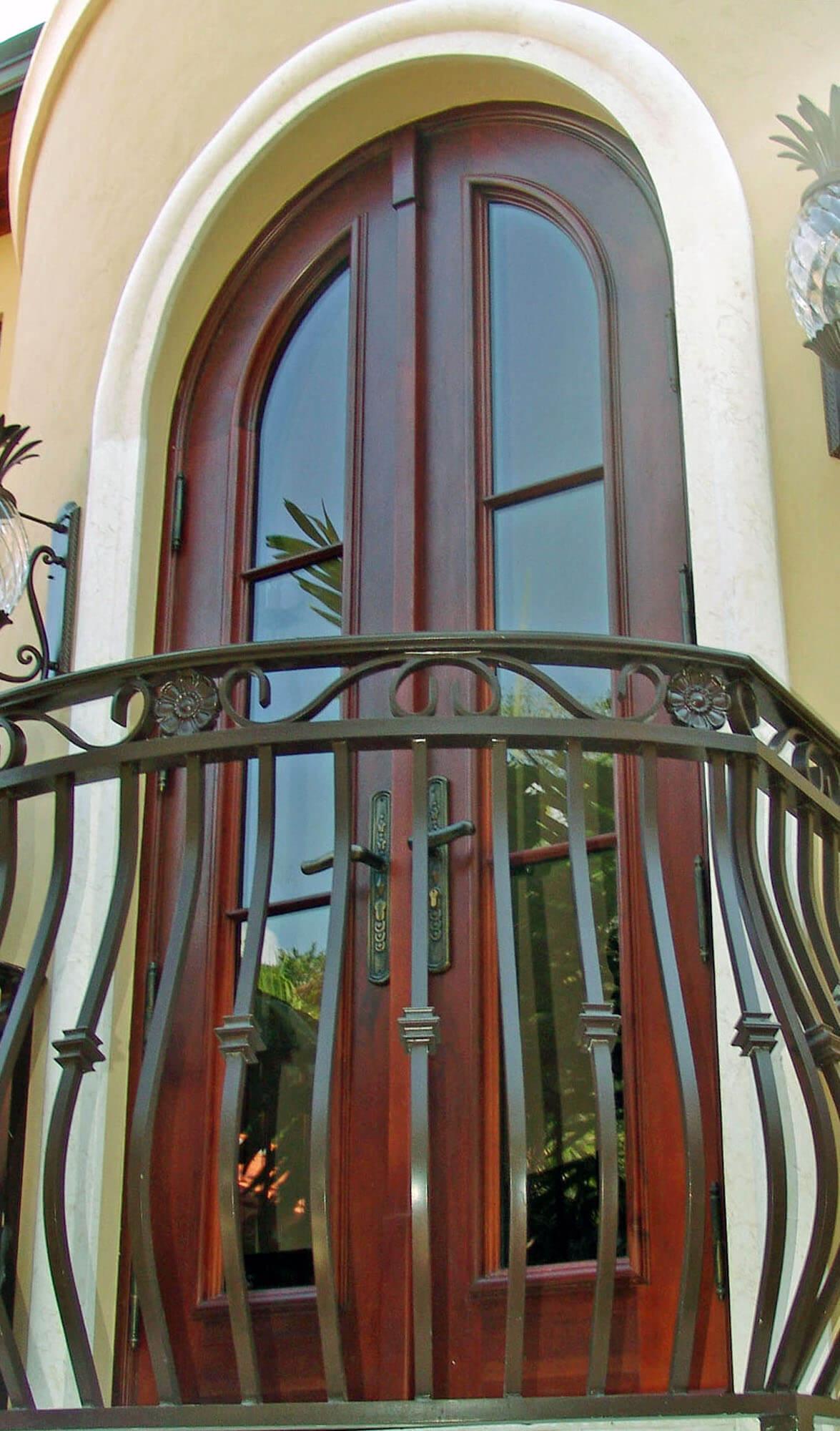 JUPITER BALCONY MAHOGANY DOOR.