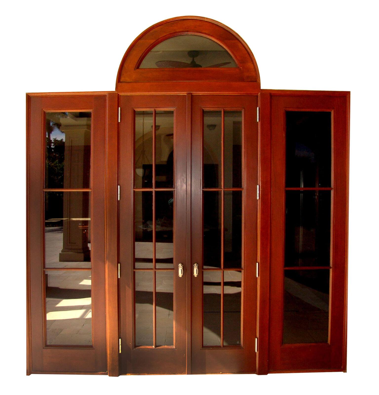 BAL HARBOUR MAHOGANY FRENCH DOORS.