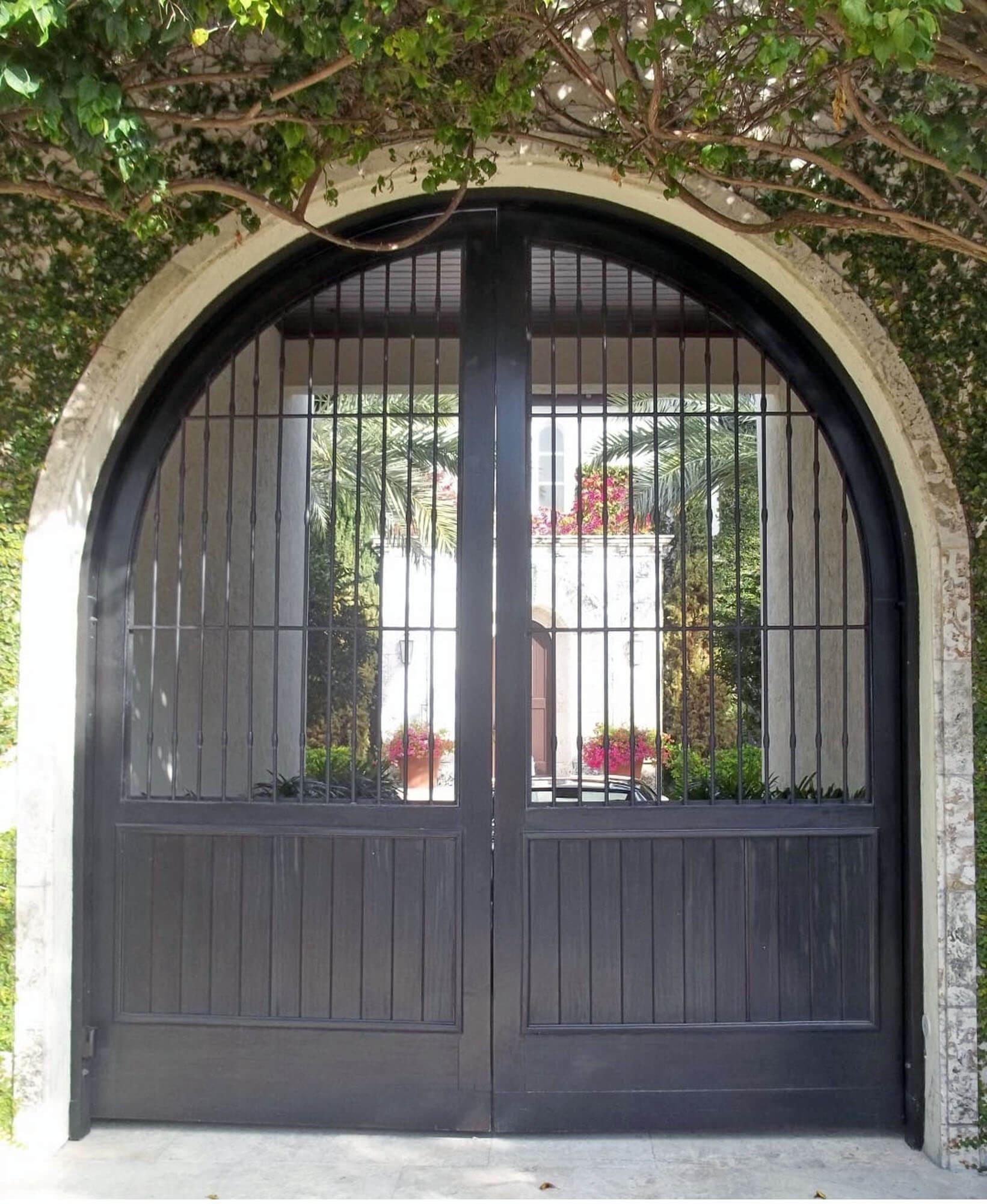 SUNSET ISLAND MAHOGANY GATE DOOR.