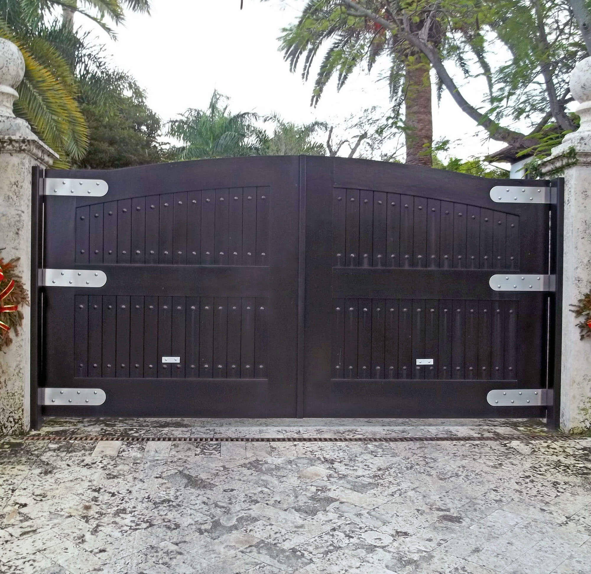 SOUTH BEACH SPANISH CEDAR CAR GATE DOOR.