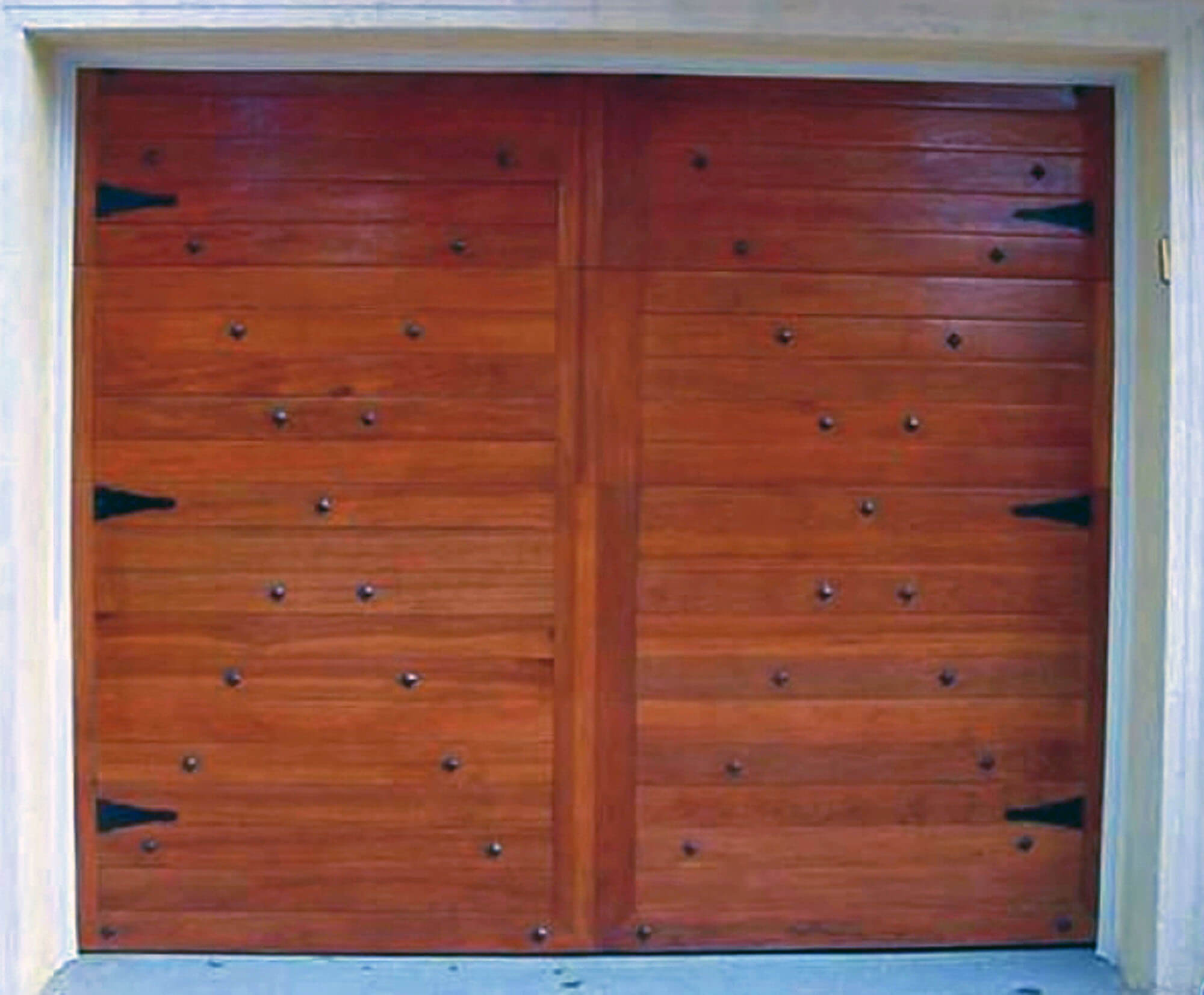 Cocoplum Mahogany Car Gate Doors