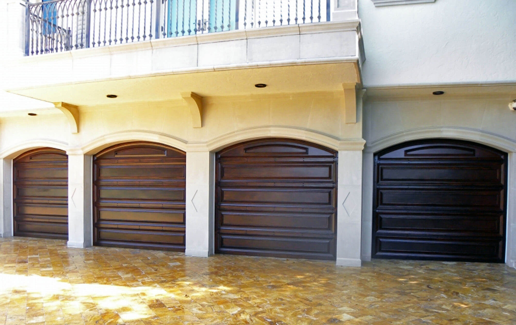LAS OLAS MAHOGANY GARAGE DOORS.
