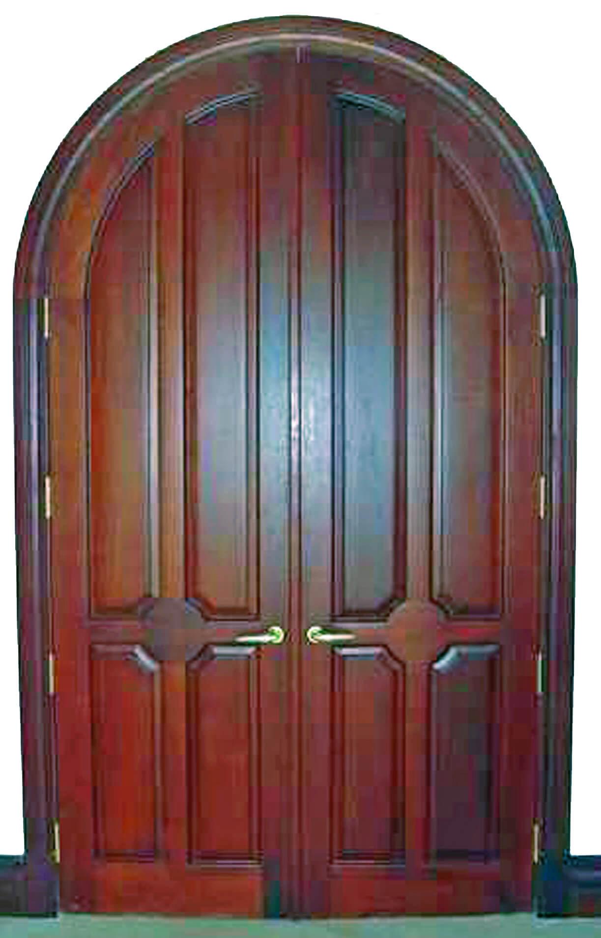 BAL HARBOUR MAHOGANY ARCH DOOR.