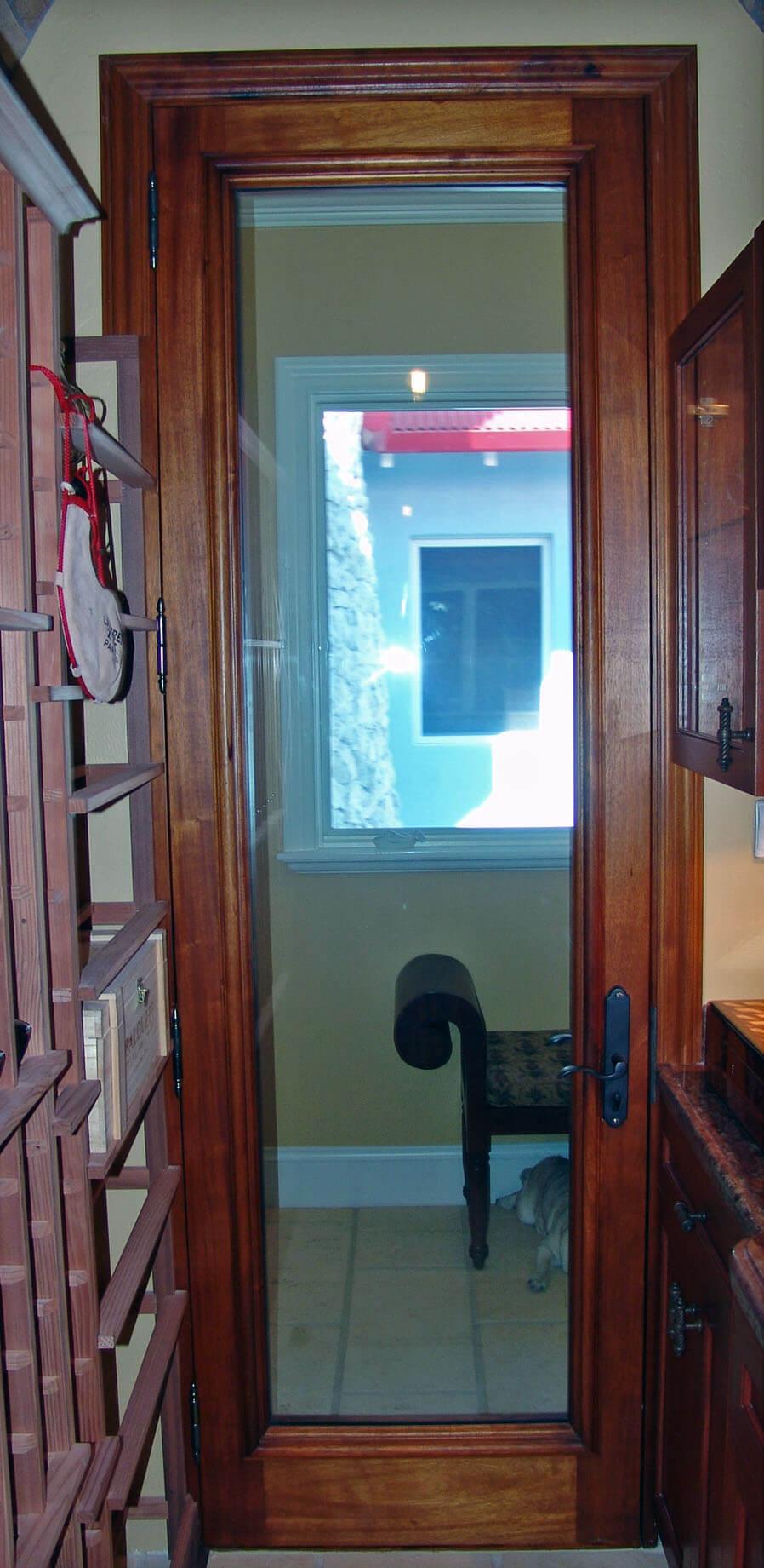 WINE CELLAR CLOSET DOOR.