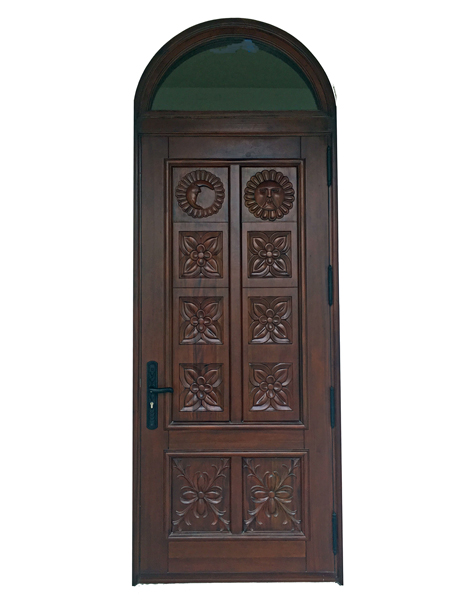 Palmetto Bay Carved Mahogany Door