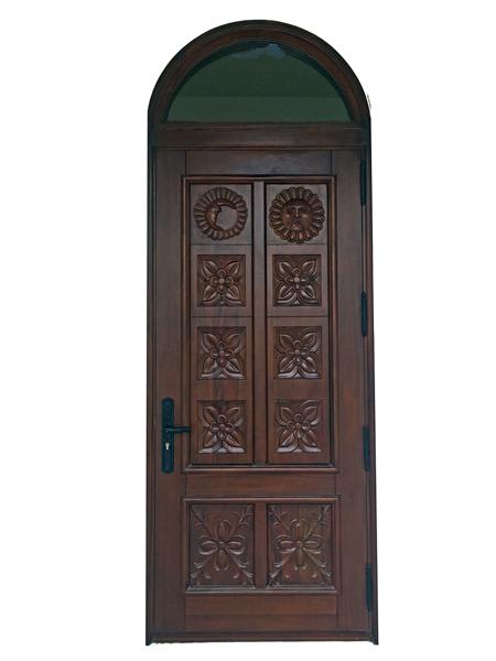 Palmetto Bay Carved Mahogany Door