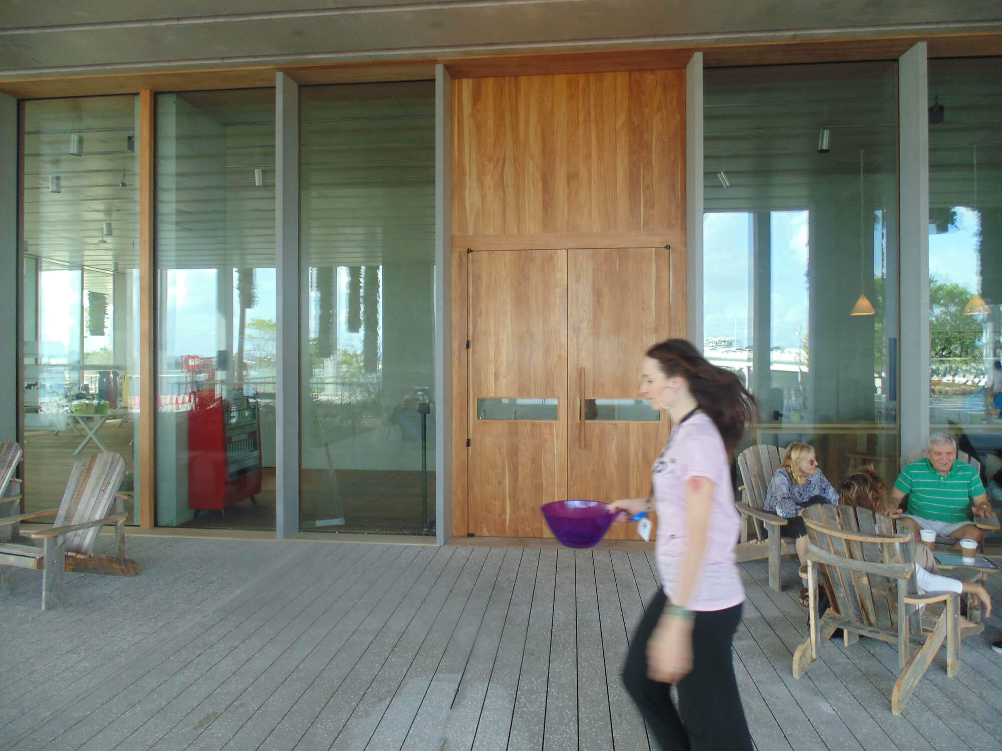 TEAK ENTRANCE DOORS TO GIFT SHOP