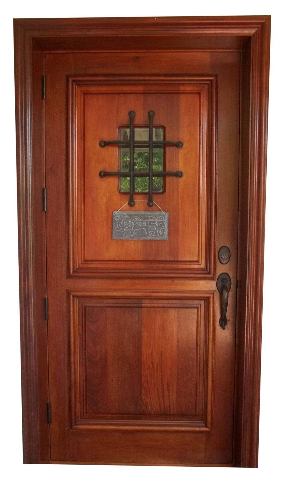 CLEARWATER DOOR WITH SPANISH GRILL.