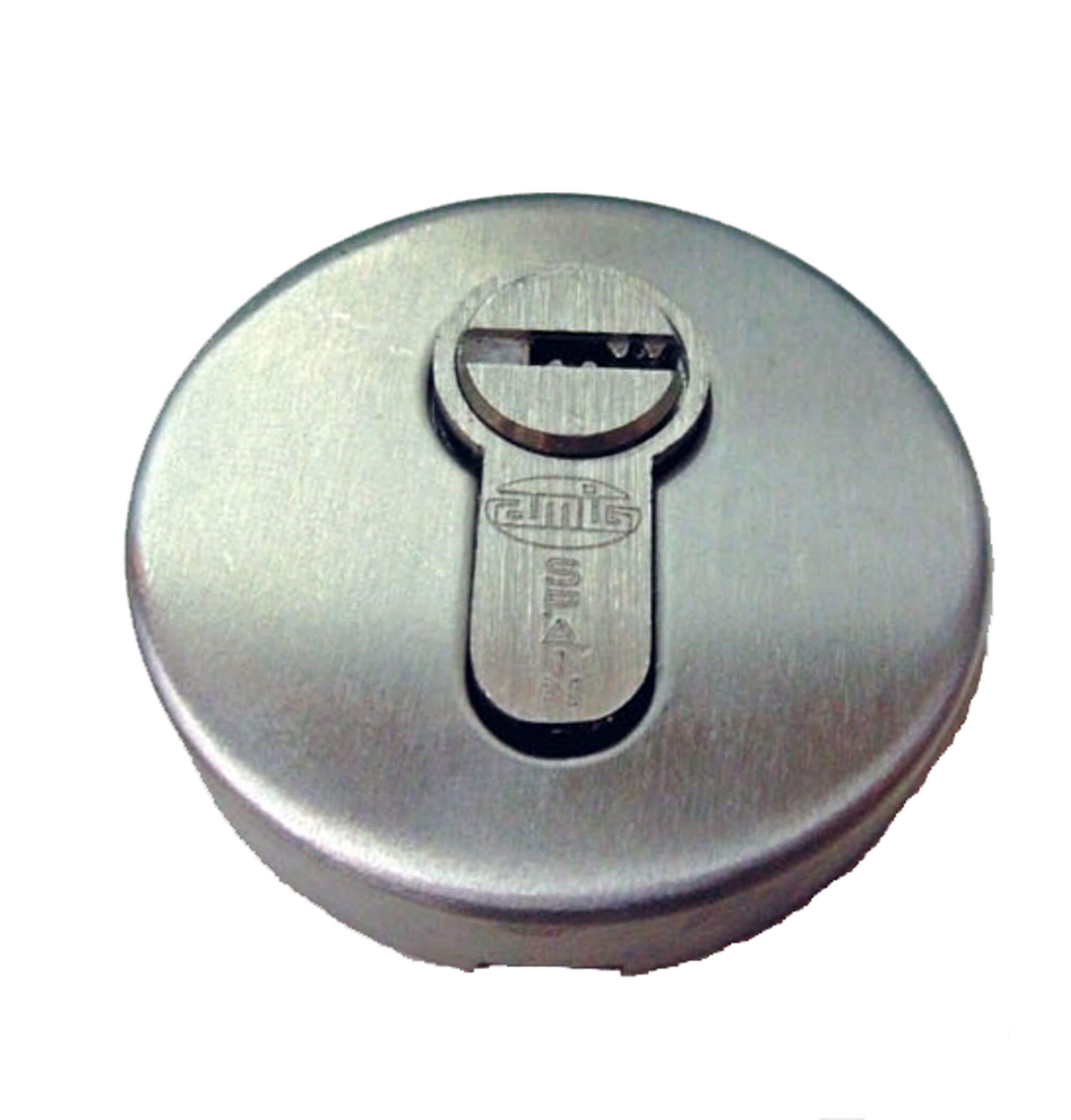 STAINLESS STEEL ROUND KEY ESCUTCHION.