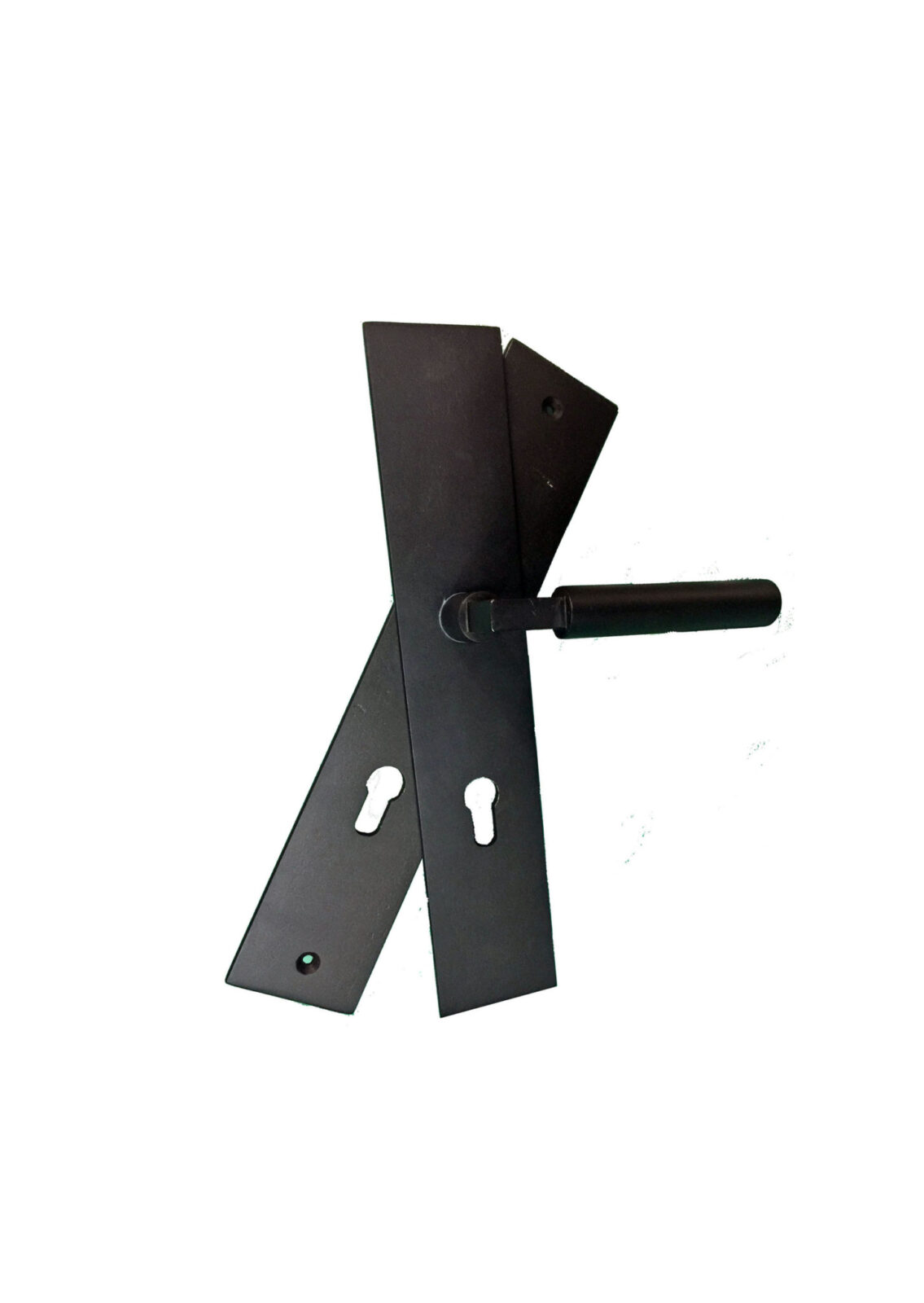STAR ISLAND DOUBLE PLATE WROUGH IRON HANDLE. (1)