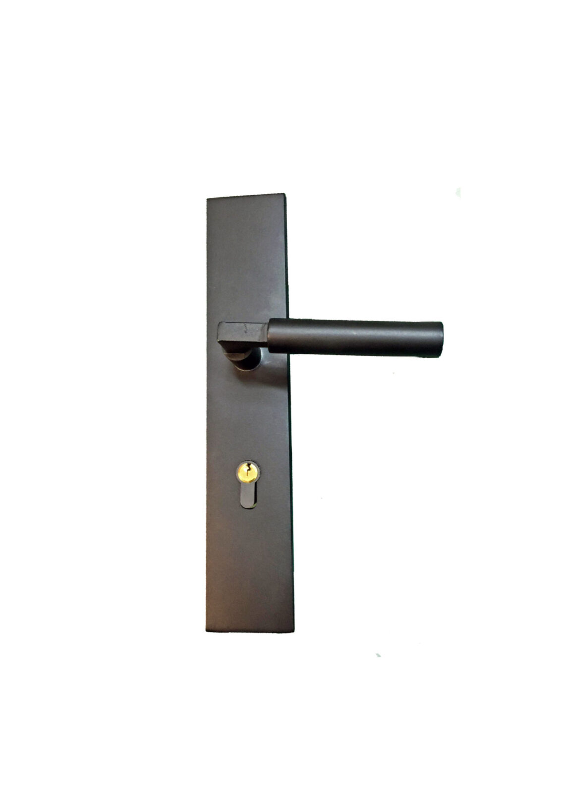 STAR ISLAND DOUBLE PLATE WROUGH IRON HANDLE. (3)