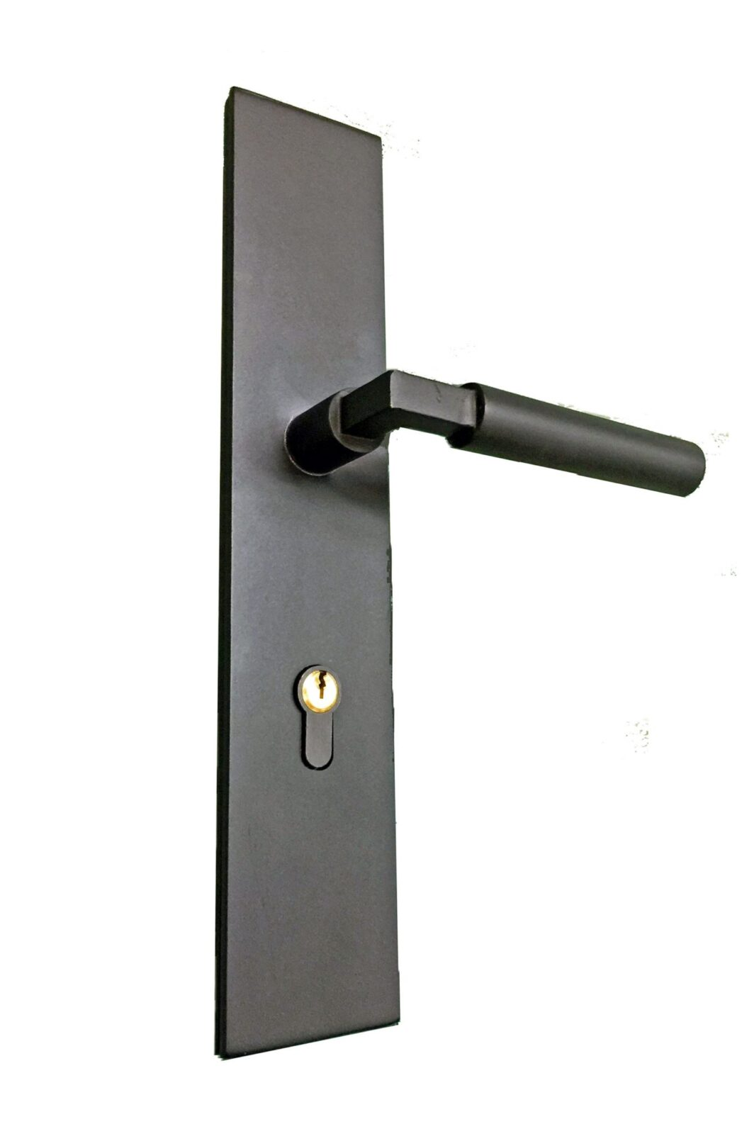STAR ISLAND DOUBLE PLATE WROUGH IRON HANDLE. (2)