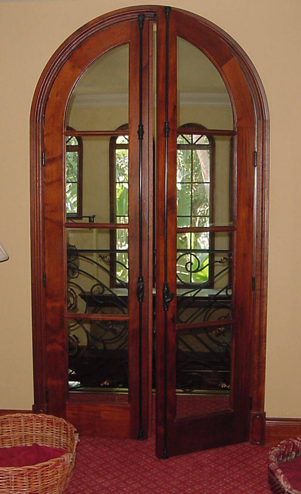 TRADITIONAL CREMONE BOLTS ON FRENCH DOOR