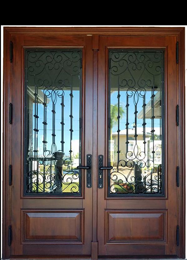Marathon Key Mahogany Entry Door