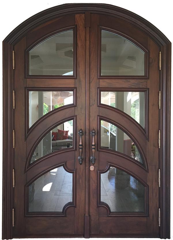 Cepero Mahogany Glazed Entry Door