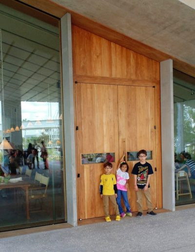 contemporary doors teak museum