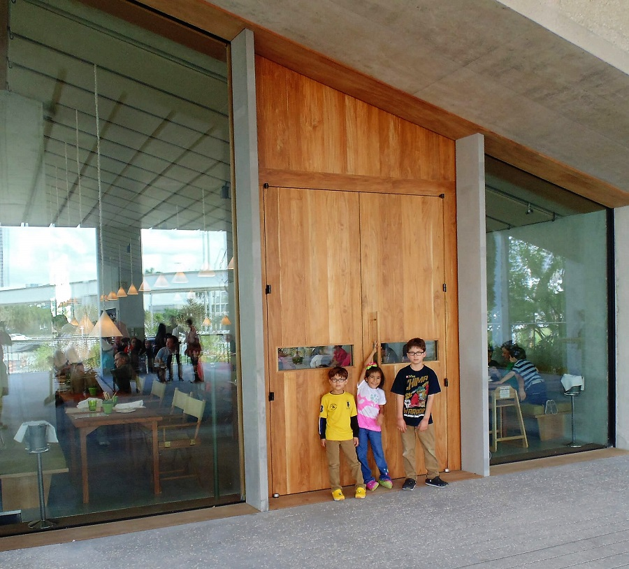 contemporary doors teak museum