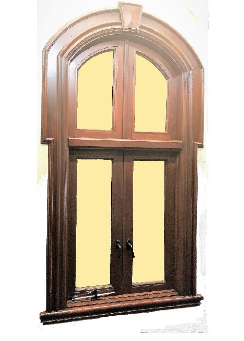 Traditional Mahogany Window