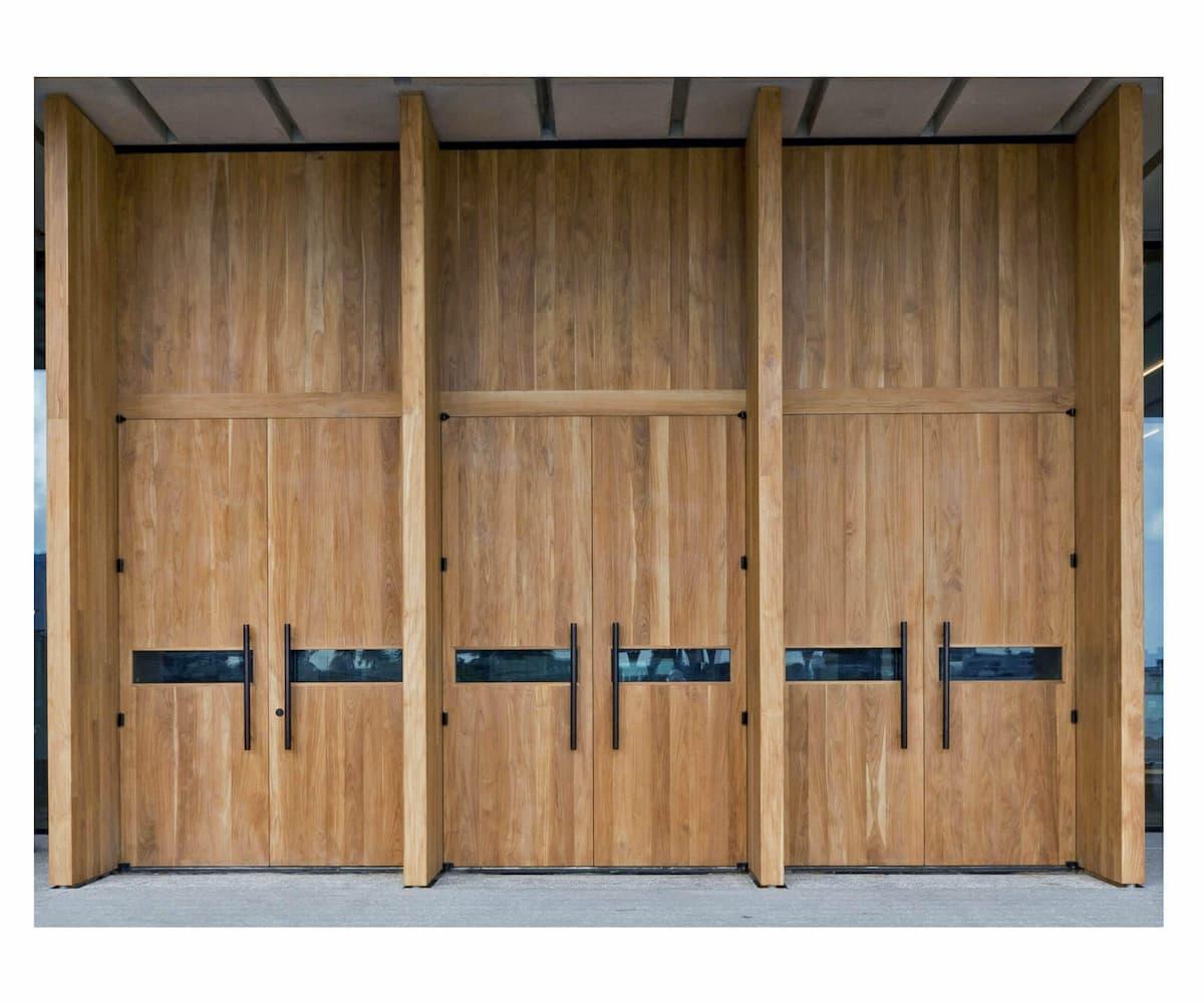 Perez Art Museum of Miami Teak Doors