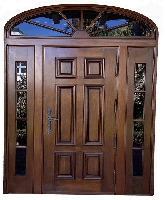 Sunset Islands Mahogany Door