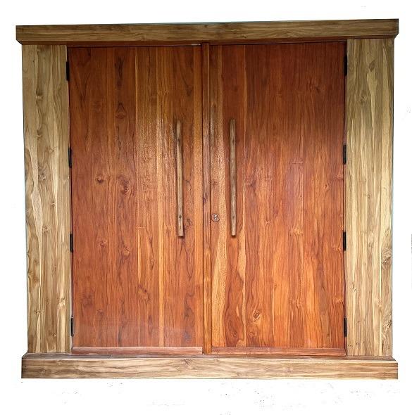 TEAK BEACH DOOR
