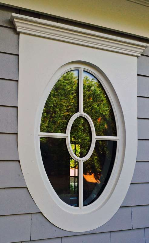 BRIDGEHAMPTON OVAL MAHOGANY FIXED WINDOW