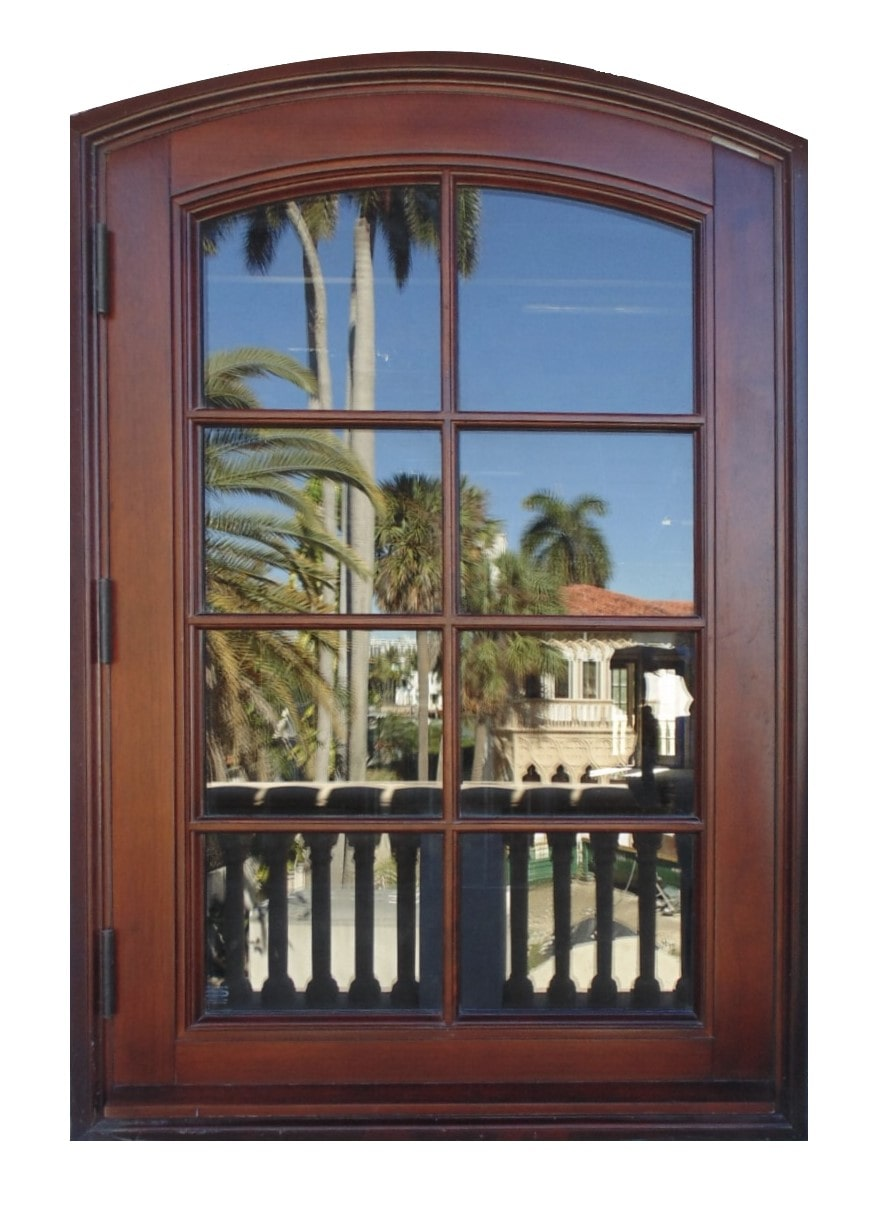 PALM ISLAND MAHOGANY CASEMENT IMPACT WINDOW