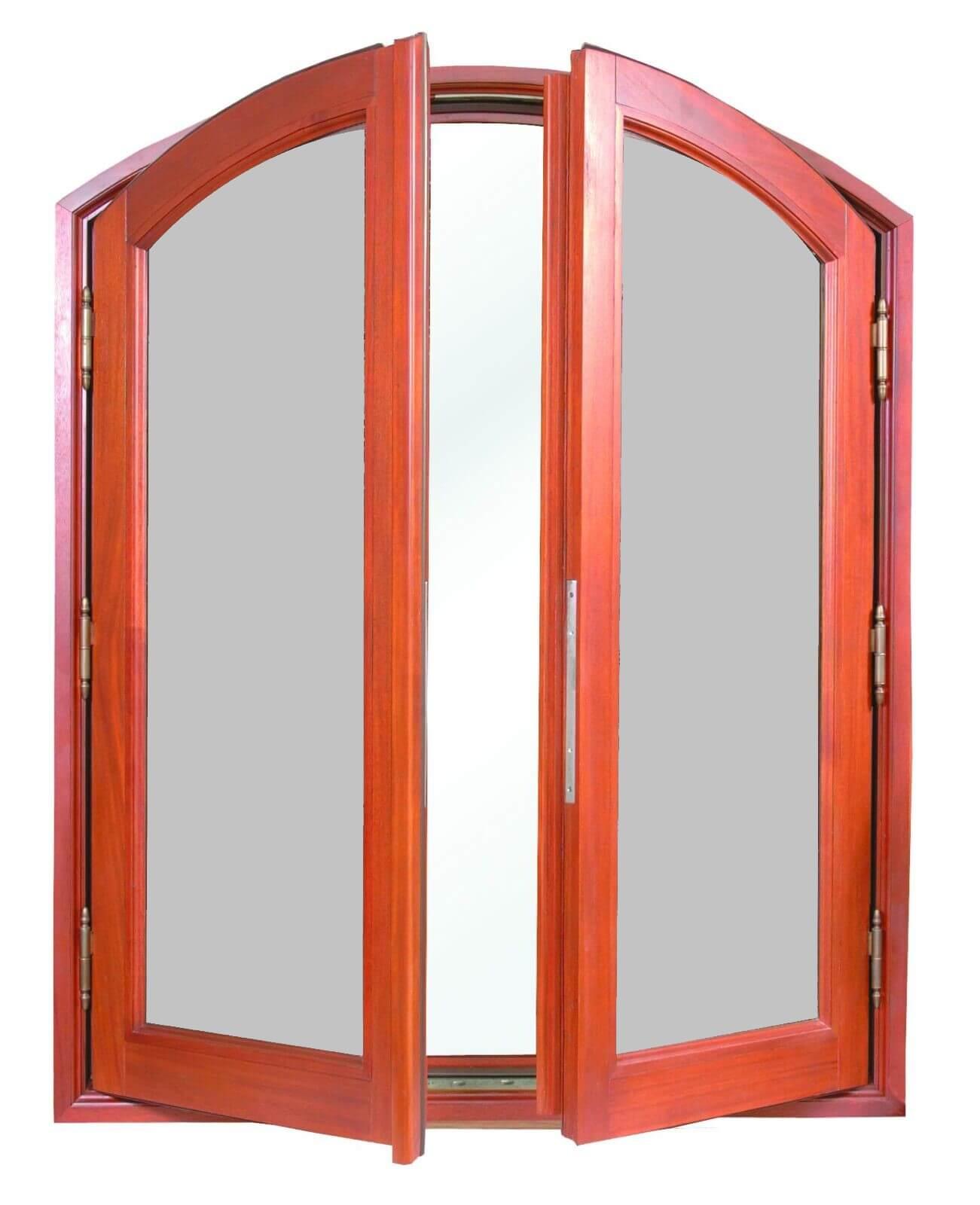 SAN PEDRO MAHOGANY ELLIPTICAL TOB DOUBLE CASEMENT WINDOWS