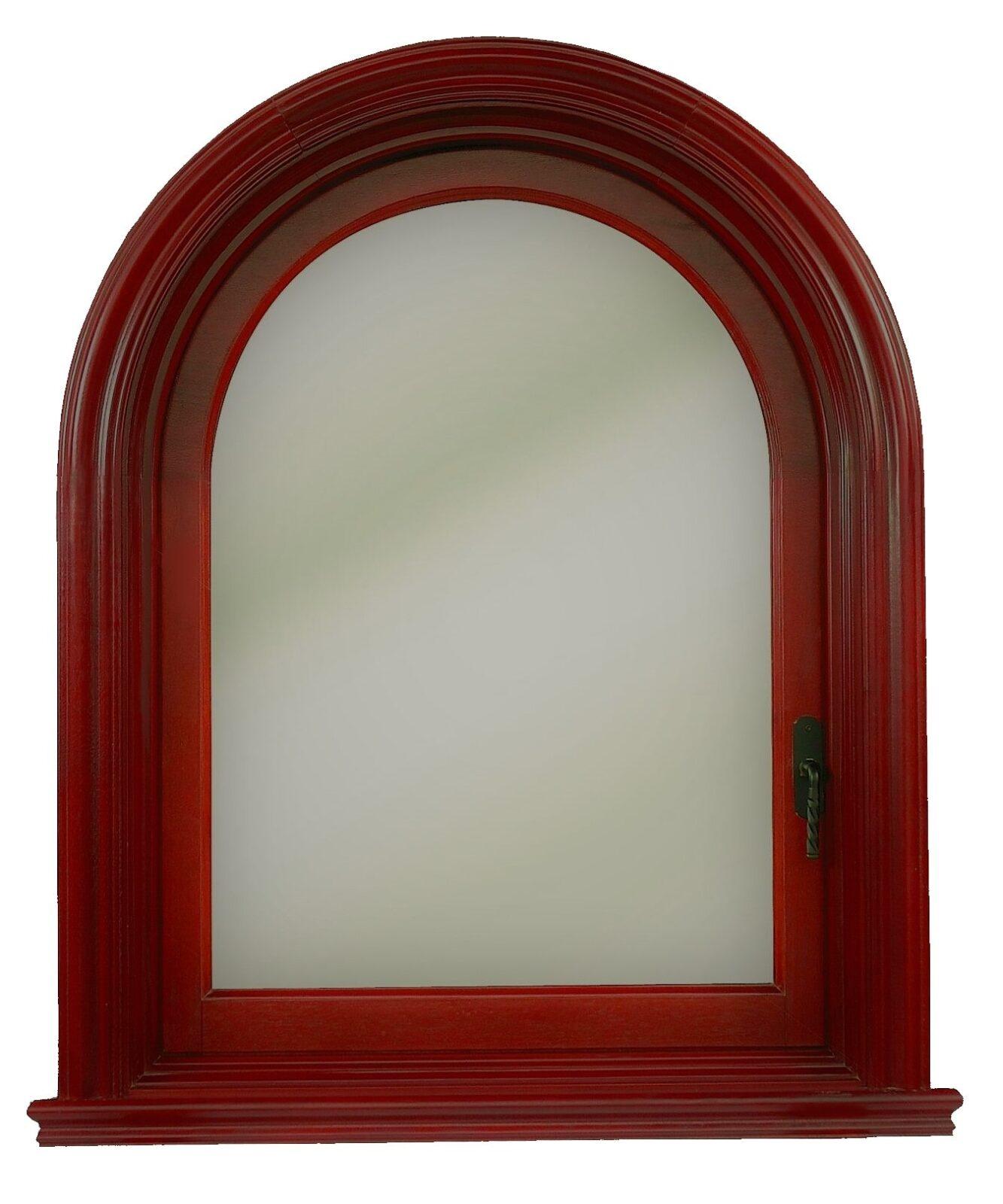 SAN PEDRO ARCHED MAHOGANY CASEMENT WINDOW