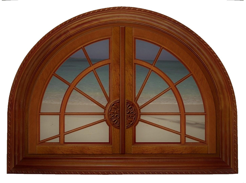 SOMERSET MAHOGANY ARCHED WINDOW