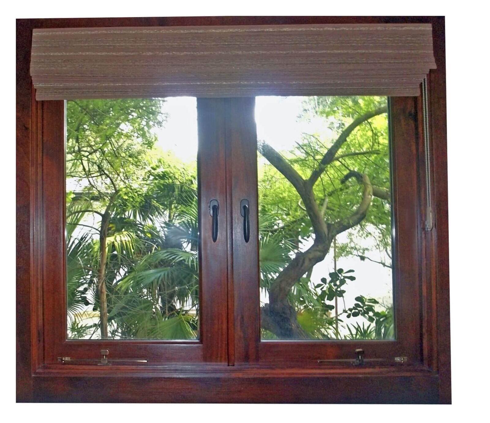 TAHITI MAHOGANY WINDOW