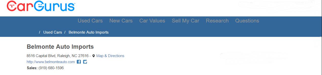 Cargurus review banner