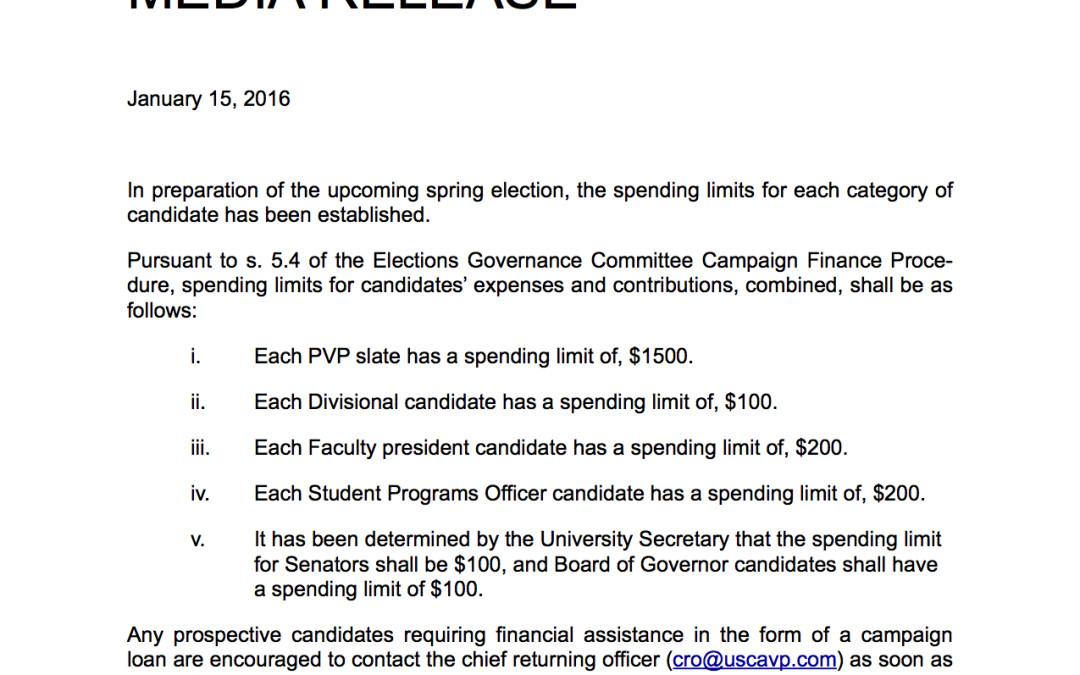 Campaign spending limits